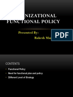Organizational Functional Policy & Leadership Adoption