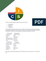 DiSC Personality Factors