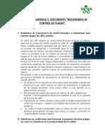 """Actividad 4 - Evidencia 2. Documento """"Mecanismos de Control de Plagas""""."""