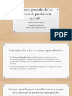 Aspectos Generales de Los Sistemas de Producción Agrícola