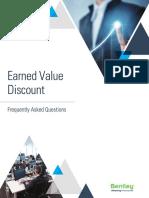 Earned Value Discount FAQ