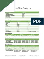6063 Aluminum Alloy Properties