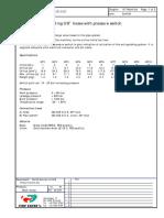 304157 Manifold IV7 MT7 Pressure Switch