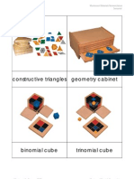 Montessori Materials Nomenclature Sensorial