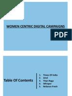 Women Centric Campaigns