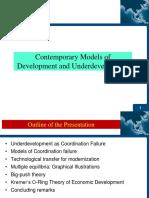Contemporary Models of Development
