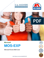 People used these MOS-EXP dumps to get 100% marks