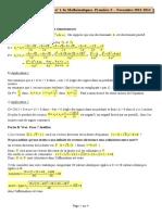 Devoir Commun Math 4 Lycee Jacques Prevert Corrige