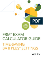 FRM Exam Calculator Guide FAQ 2018