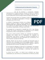 Clasificacion Internacional de Atencion Primaria