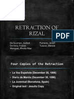 Retraction of Rizal Final