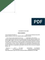 Indemnity Bond Duplicate Kvp1