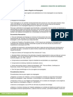Admissão e Registro de Empregado