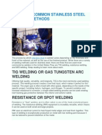 The Most Common Stainless Steel Welding Methods
