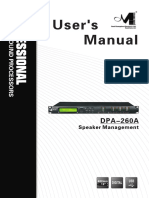 DPA-260A User Manual