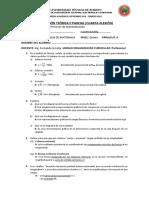 Examen Teórico CUATRO. Resistencia-FLEXIÓN - Con Respuestas