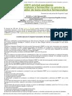 Colegiul Farmaciștilor Din București - Decizia C.N. Nr. 1_2011 Privind Aprobarea Procedurilor de Evaluare a Farmaciilor Cu Privire La Respectarea Regulilor de Buna Practica Farmaceutica