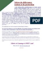 Prieres Dc3a9livrance Libc3a9ration Et Protection