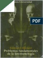 Husserl - Problemas Fundamentales de La