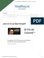 ¿Qué Era La Ley Glass-Steagall_ - TalkingOfMoney.com - Revista Financiera y de Inversión