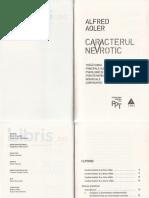 Alfred Adler - Caracterul Nevrotic