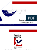 Management of Document Control