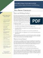 Well Being Checklist (2011)