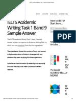 IELTS Academic Writing Task 1 Band 9 Sample Answer