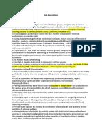 Job Description - F&A