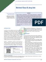 Management of Skeletal Class II Deep Bite