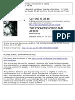 Economic Crisis Cultural Studiesgiallo
