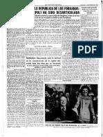 Recorte de La Vanguardia del domingo 11 de enero de 1975