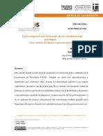 La Investigación y La Formación de Los Estudiantes de Psicología