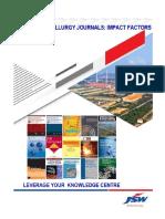 Ferrous Matallurgy Journals- Impact Factors