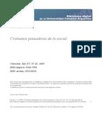 Calvez,Jean-Yves Cristianos pensadores de lo social