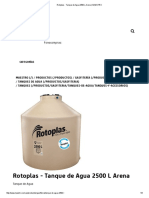 Tanque de Agua Rotoplas 2500 L Arena