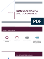 Democracy, People and Governance