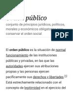 Orden Público - Wikipedia, La Enciclopedia Libre