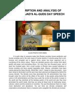 Ahmadinejad Al Quds Hitler Speech 2012