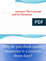 P1 Quality Assurance Concepts and Elements Final