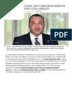 Bilan Exceptionnel Des 3 Derniers Périples Du Roi Mohammed VI en Afrique