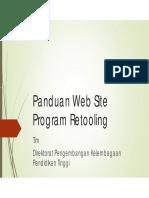 Panduan Website Retooling Sertifikasi