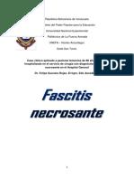 Caso Clinico Eucar Zosa FASCITIS NECROSANTE