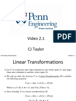 Week 2 Linear Transformations