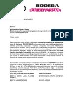 Carta Cobro Facturas Doña Mercedes
