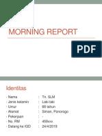 Morning Report 3- COB