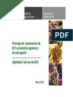 Exoneracion IGV Insumos Agricolas