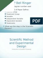Scientific Method and Experimental Design