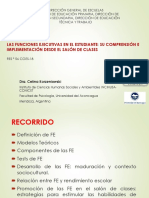Funciones Ejecutivas en El Estudiante Dra. Korzeniowski c