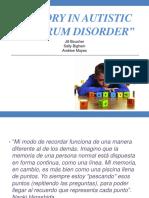 Memory in autistic spectrum disorder